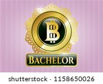 shiny emblem with bitcoin icon ... | Shutterstock .eps vector #1158650026