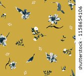 seamless floral pattern with... | Shutterstock .eps vector #1158654106