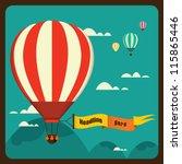 Hot Air Balloon In The Sky...