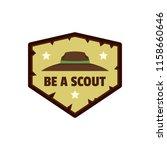 be scout logo. flat... | Shutterstock . vector #1158660646