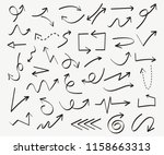 set of arrow doodle design... | Shutterstock .eps vector #1158663313