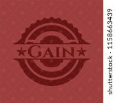gain badge with red background   Shutterstock .eps vector #1158663439