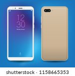 realistic smartphone mockup... | Shutterstock .eps vector #1158665353