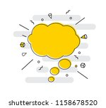 hand drawn speech bubbles icon. ... | Shutterstock .eps vector #1158678520