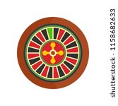 casino wheel icon. flat... | Shutterstock . vector #1158682633
