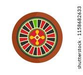 casino wheel icon. flat... | Shutterstock . vector #1158682633