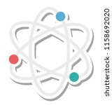atom isolated vector icon... | Shutterstock .eps vector #1158692020