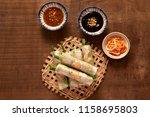 vietnamese spring rolls   rice...   Shutterstock . vector #1158695803