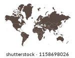 map of the world split into... | Shutterstock .eps vector #1158698026