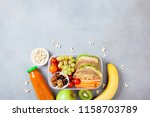 school lunch box with... | Shutterstock . vector #1158703789
