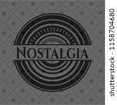nostalgia black emblem. vintage. | Shutterstock .eps vector #1158704680