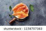 dried sweet papaya sticks.... | Shutterstock . vector #1158707383