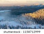 beautiful winter view in the... | Shutterstock . vector #1158712999