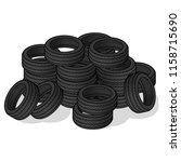 pile of tire cartoon design...   Shutterstock .eps vector #1158715690