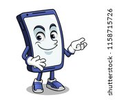 smartphone mascot presenting...   Shutterstock .eps vector #1158715726