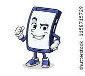 smartphone mascot giving a...   Shutterstock .eps vector #1158715729