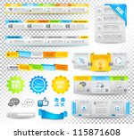 collection of web elements ... | Shutterstock .eps vector #115871608