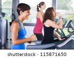 people running on treadmill in...   Shutterstock . vector #115871650