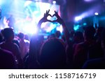 crowd of audience at during a... | Shutterstock . vector #1158716719