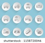 car wash web icons on light... | Shutterstock .eps vector #1158720046