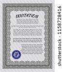 grey invitation. retro design.... | Shutterstock .eps vector #1158728416