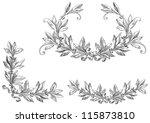 vector scroll set. decorative... | Shutterstock .eps vector #115873810