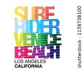 wave surfing lettering design.... | Shutterstock .eps vector #1158738100