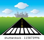 vector road to the city | Shutterstock .eps vector #115873996
