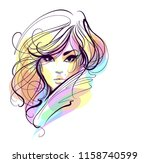 vector  stylish  original hand... | Shutterstock .eps vector #1158740599