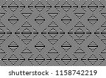 seamless pattern with striped... | Shutterstock .eps vector #1158742219