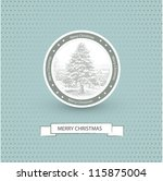 christmas card with retro... | Shutterstock .eps vector #115875004
