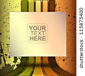 vintage style stripes vector... | Shutterstock .eps vector #115875400
