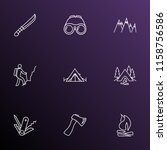 camping icons line style set... | Shutterstock .eps vector #1158756586