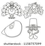 4 line art black and white...   Shutterstock .eps vector #1158757099