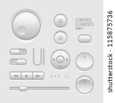 web ui elements design gray....