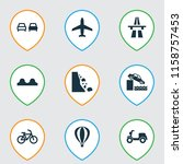 transport icons set with...   Shutterstock . vector #1158757453