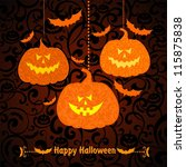 happy halloween  halloween... | Shutterstock . vector #115875838