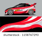 car wrap graphic racing... | Shutterstock .eps vector #1158767293