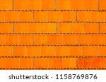 orange brick wall background... | Shutterstock . vector #1158769876