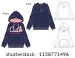 vector illustration of girls... | Shutterstock .eps vector #1158771496