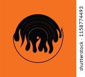 flame vinyl icon. orange... | Shutterstock .eps vector #1158774493