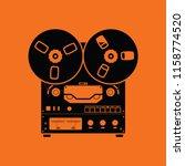 reel tape recorder icon. orange ... | Shutterstock .eps vector #1158774520