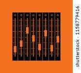music equalizer icon. orange...   Shutterstock .eps vector #1158779416