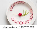 whole and sliced radishes close ... | Shutterstock . vector #1158789073