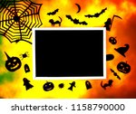 decorations for halloween party.... | Shutterstock . vector #1158790000