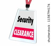 security clearance vetted... | Shutterstock . vector #1158794176
