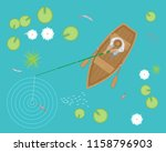 vector illustration. fisherman... | Shutterstock .eps vector #1158796903