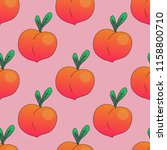 seamless pattern peaches.... | Shutterstock .eps vector #1158800710