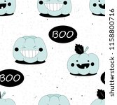 seamless pattern with pumpkins. ... | Shutterstock .eps vector #1158800716