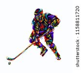 hockey player colorful vector... | Shutterstock .eps vector #1158811720